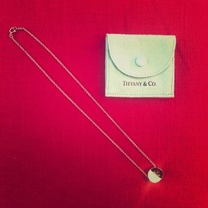 Tiffany & Co. Sterling Silver Round/Dish Necklace